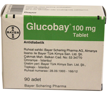 Glucobay 100 mg (90 pills)